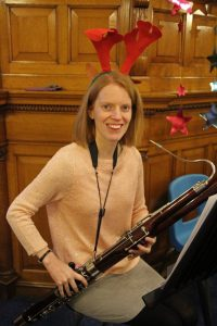 The Gift - Alison poses with her bassoon.