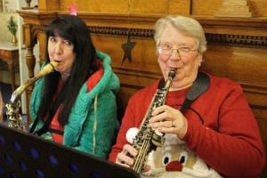 The Gift - The powerhouse of the band - Pauline and Margaret on saxaphones.